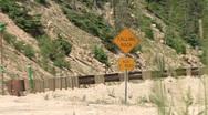 Falling Rocks Zone Stock Footage