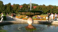 Germany Munich royal garden Stock Footage