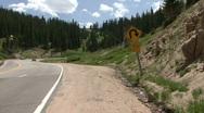 Winding Mountain Road Stock Footage