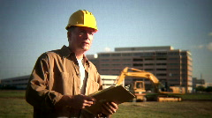 Construction foreman 2 Stock Footage