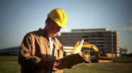 Stock Video Footage of construction foreman 2