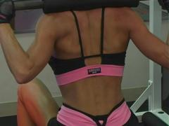 Pretty Brunette at the Gym 58 Stock Footage