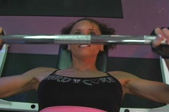 Pretty Brunette at the Gym 62 Stock Footage
