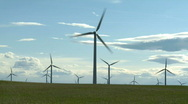 Stock Video Footage of Wind Farm 1