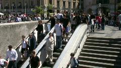 Germany Munich pedestrians Karlsplatz Stachus Stock Footage