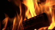 Fire in the grate Stock Footage