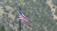 American Flag In The Mountains Stock Footage