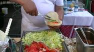 Stock Video Footage of Turkish Gyro Dönar Kebap Kebab Rolling meat