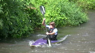 Germany Canoeing in river Bamberg Stock Footage