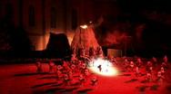 Manti volcano dance reinactment M HD Stock Footage