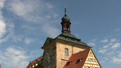 Germany Bamberg Townhall Cityhall tourist walking - stock footage