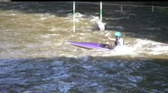 Canoeing in river Bamberg Germany Stock Footage