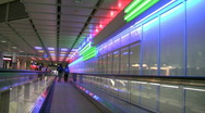 Germany Munich international airport escalator Stock Footage