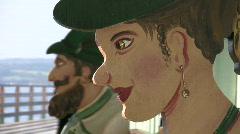 Germany Bavaria sculpture couple costume Stock Footage