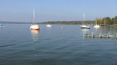 Germany Bavaria Ammersee lake beach house Stock Footage