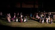 Manti re-enactment handcarts M HD Stock Footage