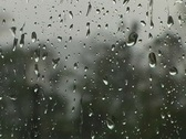 Stock Video Footage of Window Raindrops