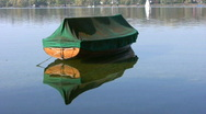 Boat mooring, Ammersee lake, Herrsching, Bavaria, Germany Stock Footage