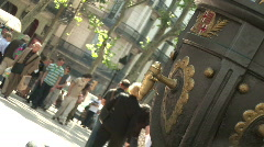 """font de Canaletes"". The most famous fountain in Barcelona - stock footage"