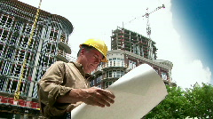Man architect smiling Stock Footage
