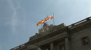 Stock Video Footage of Spanish, Catalan and Barcelona flag banderas