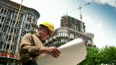Man architect Stock Footage