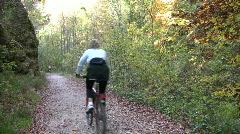 Bikers in Autumn landscape Stock Footage