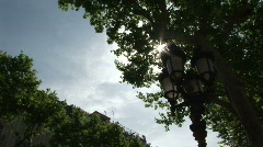 Modernist Barcelona streetlight - stock footage