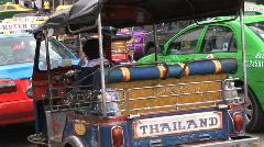 tuk tuk transportation in Bangkok, Thailand - stock footage