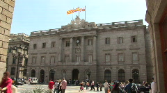 Barcelona city hall Stock Footage