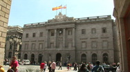 Stock Video Footage of Barcelona city hall