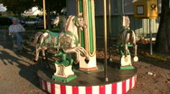 Children carousel Stock Footage