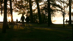 Old Cure park in Herrsching, Bavaria, Germany Stock Footage