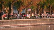 Stock Video Footage of Beer garden, Lake Ammer, Herrsching, Bavaria, Germany