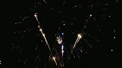 High Definition Fireworks  Stock Footage