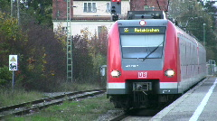 Germany Munich S-Bahn subway Stock Footage