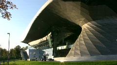 Munich BMW world distribution center  Stock Footage