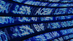 Animation showing Business and stock Exchange - stock footage