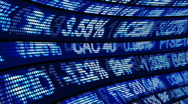 Animation showing Business and stock Exchange Stock Footage