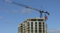 Construction crane. Time lapse. Stock Footage