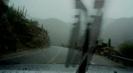 Stock Video Footage of Wet and muddy mountain pass