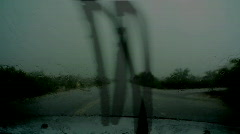 Driving through a microburst Stock Footage