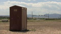 Colorado Porta Potty Stock Footage