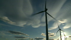 Wind Turbines & Sun 7 - stock footage