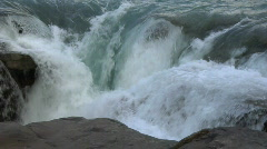 Athabasca Falls Crest MCU Stock Footage