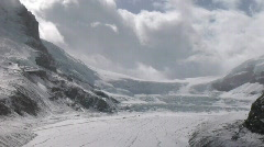 Athabasca Glacier CUpullout to WS Stock Footage