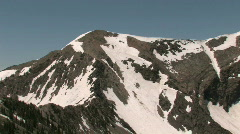 Wasatch Mountains snow peaks M HD Stock Footage