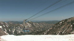 Snowbird tram on top of mountain M HD Stock Footage