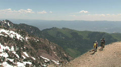 Wasatch Mountains tourists M HD Stock Footage
