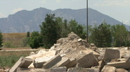 Pile Of Rocks Wide Stock Footage